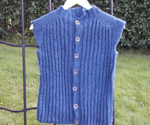Vest Lun, knitted