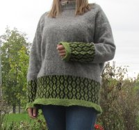 Knitted female sweater Spire